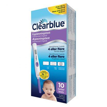 Clearblue ægløsningstest med dobbelt hormonindikator 10 stk