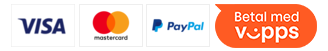 Betal med VISA, MasterCard og Klarna